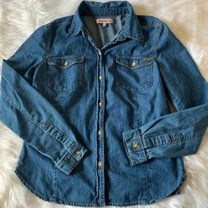 Juicy Couture Chambray Denim Shirt L